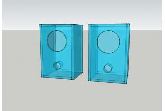 Speaker box for Fostex FF165WK Walnut Bass Reflex Type Enclosure