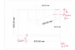 Plinth for turntable Garrard 401 for Julien orange perso
