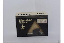TURNTABLE NEEDLE STYLUS PFANSTIEHL 731-D7 FISHER, SANYO ST-38D; ATN-892