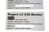 Stickers for Rogers LS 3/5a