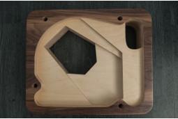 Plinth for turntable Thorens 124, 7 layers, walnut veneer